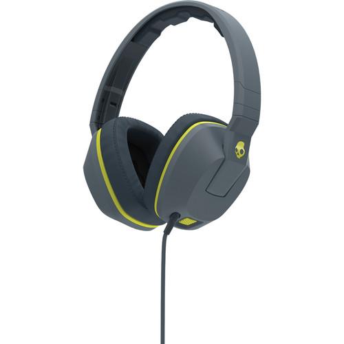 Skullcandy Crusher Over-Ear Headphones (Gray and Hot Lime)