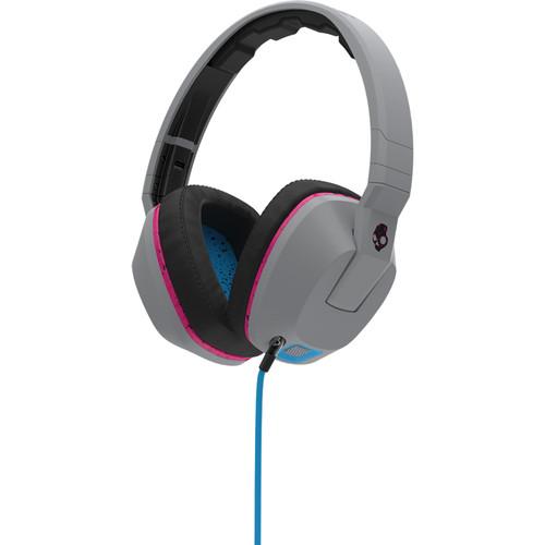 Skullcandy Crusher Over-Ear Headphones (Gray, Cyan, and Black)