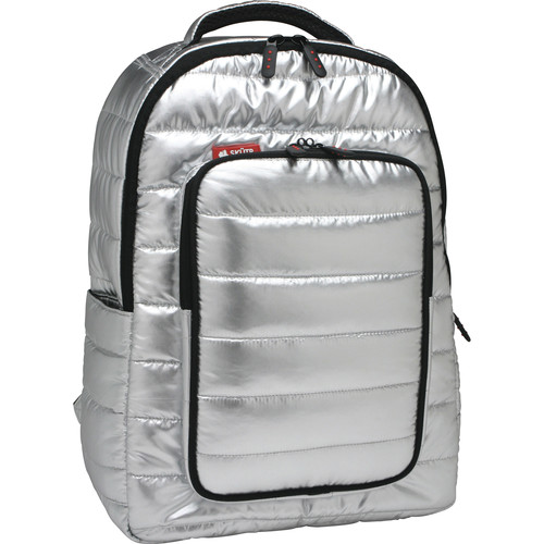 Skutr backpack + tablet Bag (Silver, Puffy)