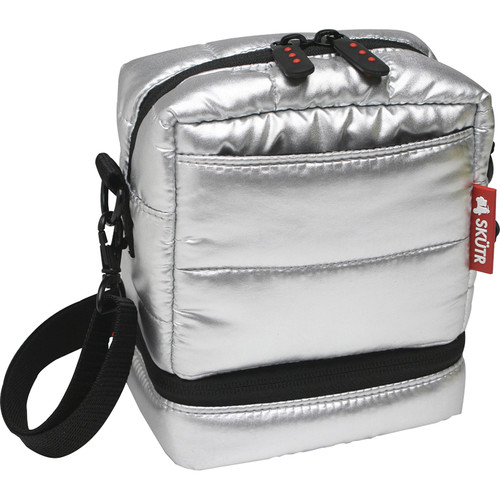 Skutr Camera Bag for Fujifilm Instax Mini 8 or Polaroid 300 (Silver)