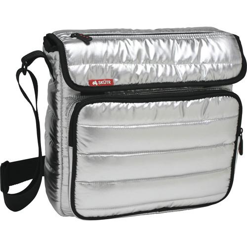 Skutr SKUTR messenger + tablet Bag (Silver, Puffy Jacket Nylon)