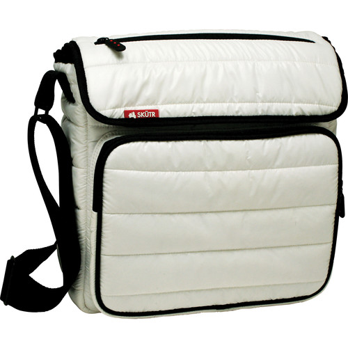 Skutr SKUTR messenger + tablet Bag (White, Puffy Jacket Nylon)