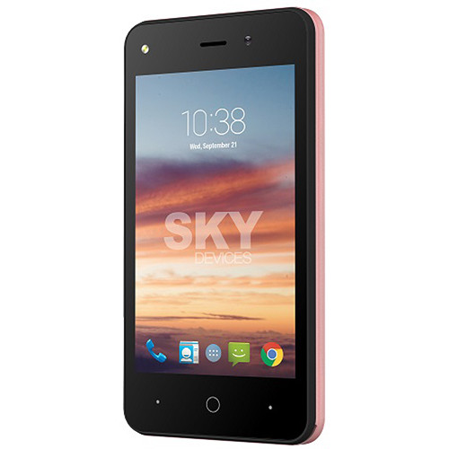 SKY Devices Platinum 4.0 4GB Smartphone (Unlocked, Rose Gold)