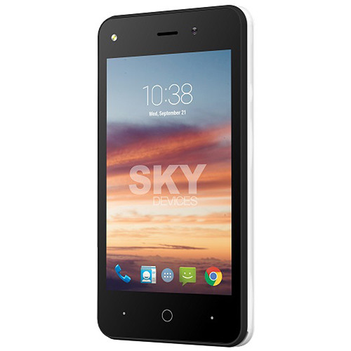 SKY Devices Platinum 4.0 4GB Smartphone (Unlocked, White)