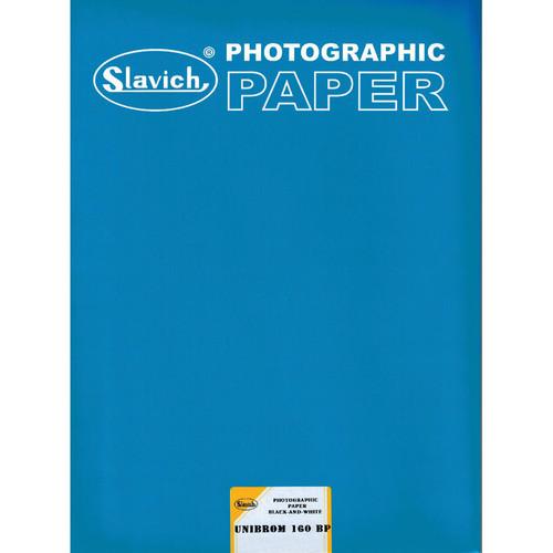 "Slavich Unibrom 160 BP Grade 3 FB Black & White Paper (Smooth Matte, 8 x 10"", Single Weight, 25 Sheets)"