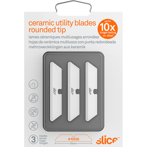 Slice Ceramic Utility Blades (Rounded Tip, Pack of 3)