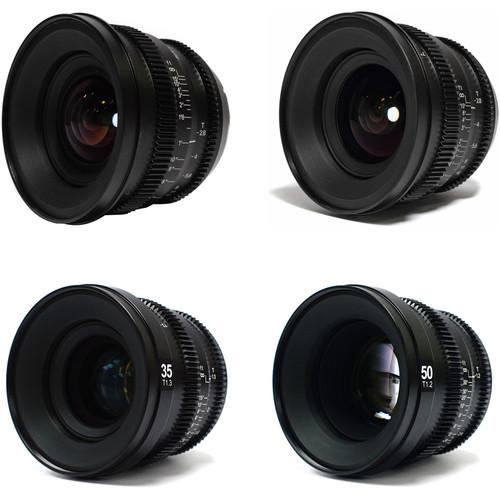 SLR Magic MicroPrime Cine 12, 18, 35, and 50mm Super 35/FF Lens Kit (E-Mount)