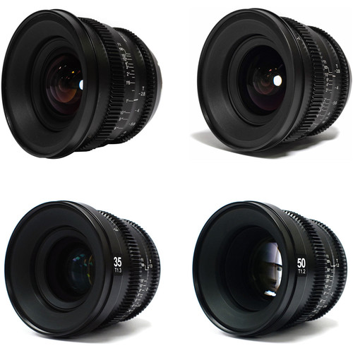 SLR Magic MicroPrime Cine 12, 18, 35, and 50mm Super 35/FF Lens Kit (E-Mount)