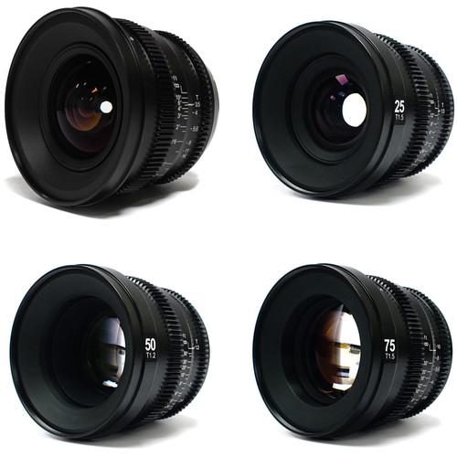 SLR Magic MicroPrime Cine 15, 25, 50, and 75mm Full-Frame Lens Kit (E-Mount)