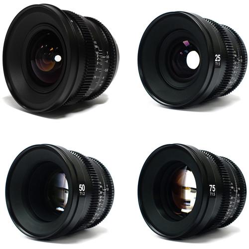 SLR Magic MicroPrime Cine 15, 25, 50, and 75mm Full-Frame Lens Kit (E-Mount)