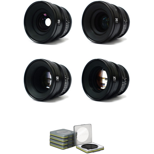 SLR Magic MicroPrime Cine 4 Lens Kit with ND Filter Set (Sony E-Mount)