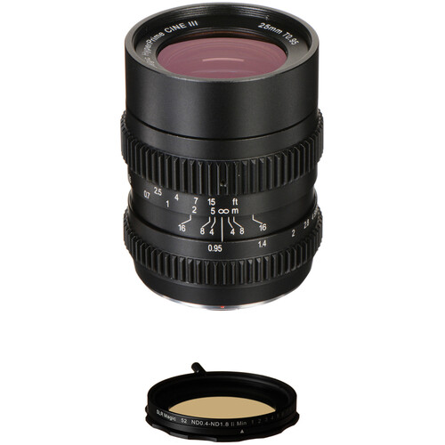 SLR Magic 25mm T0.95 HyperPrime Cine III Lens and Variable ND Kit