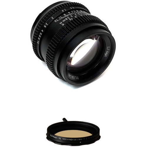 SLR Magic Cine 50mm f/1.1 and Variable Neutral Density Filter Kit for Sony E-Mount