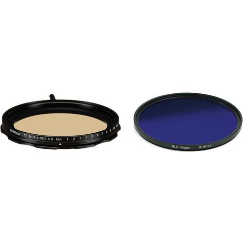 SLR Magic 77mm Self-Locking Variable Neutral Density 0.4 to 1.8 and 86mm Solid Neutral Density 1.2 Image Enhancer Filter Kit