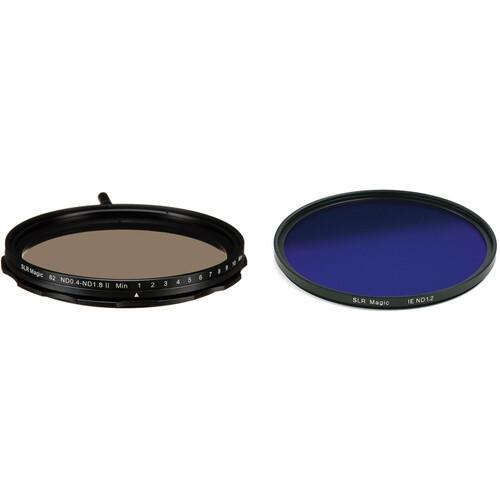 SLR Magic 82mm Self-Locking Variable Neutral Density 0.4 to 1.8 and 86mm Solid Neutral Density 1.2 Image Enhancer Filter Kit