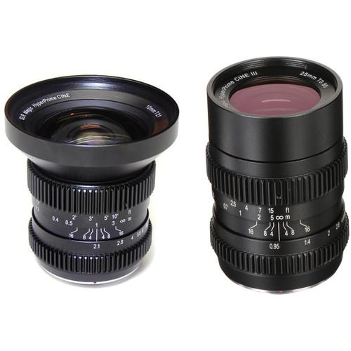 SLR Magic 10mm T2.1 HyperPrime Cine and 25mm T0.95 HyperPrime Cine III Lens Kit with MFT Mount
