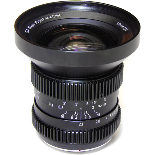 SLR Magic 10mm T2.1 HyperPrime Cine Lens with MFT Mount and 77mm Variable ND Kit