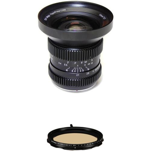 SLR Magic 10mm T2.1 HyperPrime Cine Lens with MFT Mount and 77mm Variable ND Kit