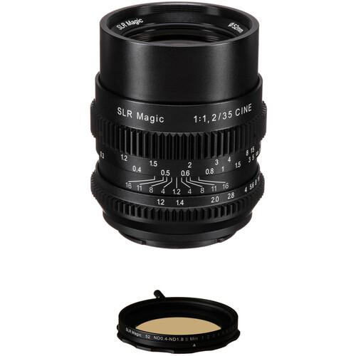 SLR Magic Cine 35mm f/1.2 FE Lens with Variable Neutral Density Filter Kit for Sony E-Mount