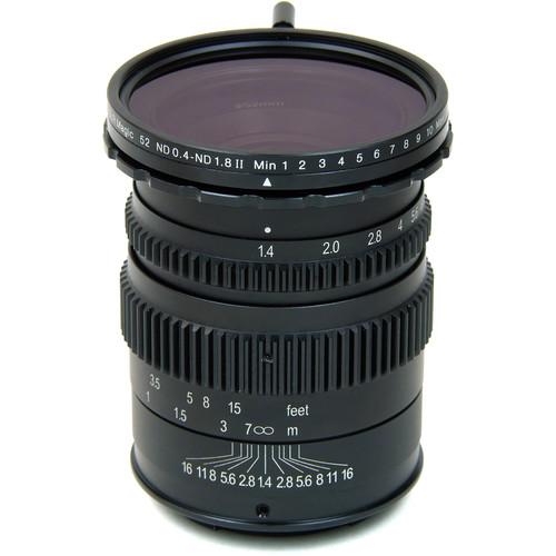 SLR Magic 35mm T1.4 II Cine Lens and 52mm Variable ND (MFT Mount)