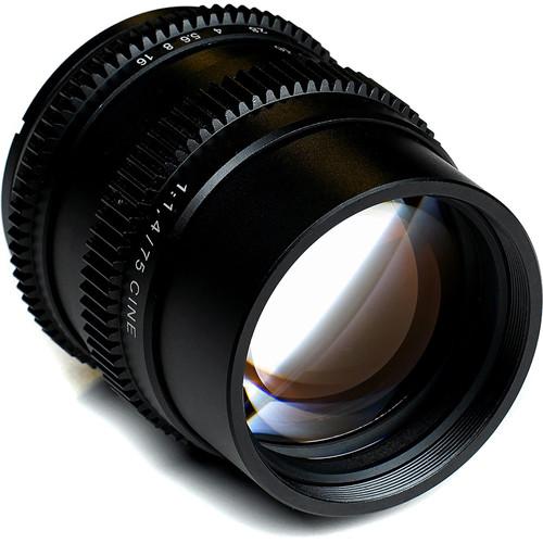 SLR Magic Cine 75mm f/1.4 FE Lens with Variable Neutral Density Filter Kit for Sony E-Mount