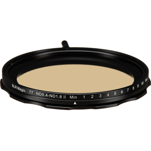 SLR Magic 77mm Self-Locking Variable Neutral Density 0.4 to 1.8 Filter (1.3 to 6 Stops)