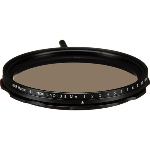 SLR Magic 82mm Self-Locking Variable Neutral Density 0.4 to 1.8 Filter (1.3 to 6 Stops)