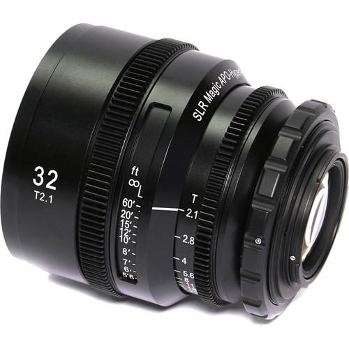 SLR Magic APO HyperPrime CINE 32mm T2.1 Lens (PL Mount with EF-Mount Adapter)