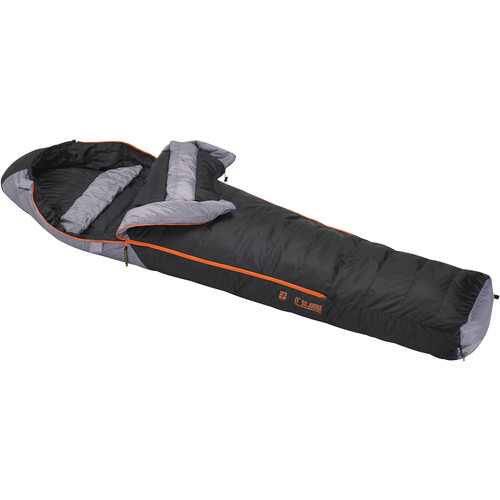 Slumberjack Sojourn 0° Sleeping Bag (Black/Gray, Long)