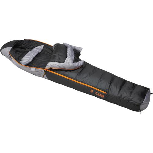 Slumberjack Sojourn 0° Sleeping Bag (Black/Gray, Medium)