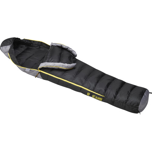 Slumberjack Sojourn 40° Sleeping Bag (Black/Gray, Medium)