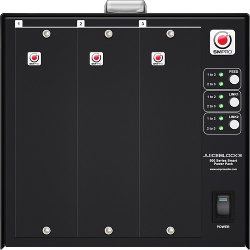 SM Pro Audio JuiceBlock 3 3-Slot 500-Series Power Block