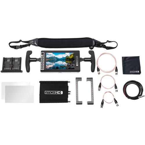 SmallHD 703 UltraBright Director's Kit (Dual L-Series Battery Plate)