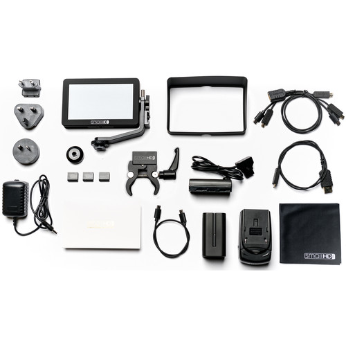 """SmallHD FOCUS 5"""" On-Camera Monitor Gimbal Kit with International Charger Power Supply"""