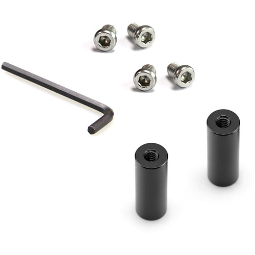 """SmallRig 15mm Rod Pair with 1/4""""-20 Threaded Holes at Both Ends (1.5"""")"""