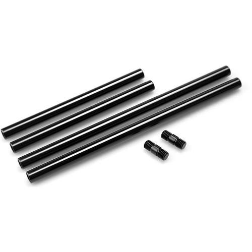 "SmallRig 2 x 11.8"" and 2 x 7.9"" M12 Threaded 15mm Aluminum Rods + 2 x Threaded Rod Connectors"