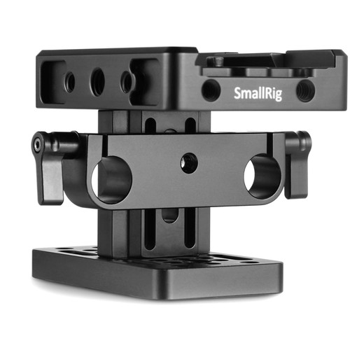 SmallRig Baseplate (Manfrotto-Style) with Locking Lever & 15mm LWS Rod Clamp