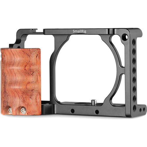 SmallRig 2082 Cage with Wooden Handgrip for Sony a6000/a6300