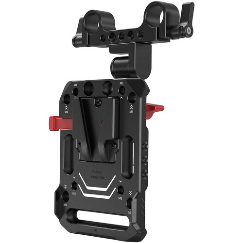 SmallRig V-Lock Battery Plate with 15mm Rod Clamp & Adjustable Arm