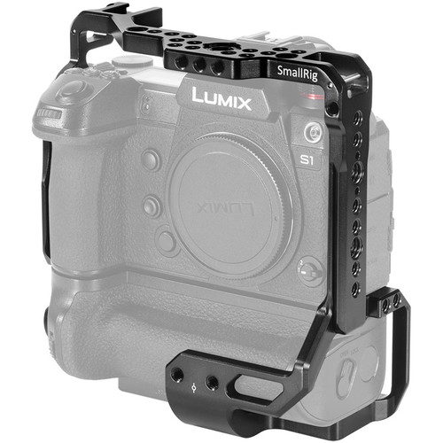 SmallRig Camera Cage for Panasonic S1/S1R with Attached DMW-BGS1 Battery Grip