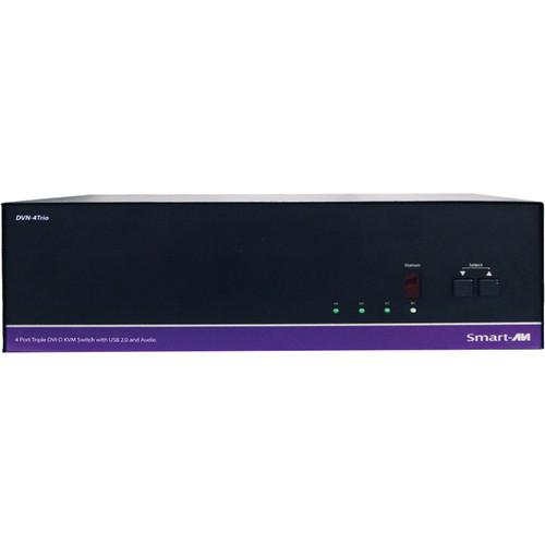 Smart-AVI DVN-4Trio 4-Port Dual Display DVI-D KVM Switch with USB 2.0 Sharing
