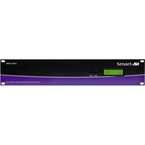 Smart-AVI DVNET-16PRO-S Cross Platform DVI-D KVM Switch