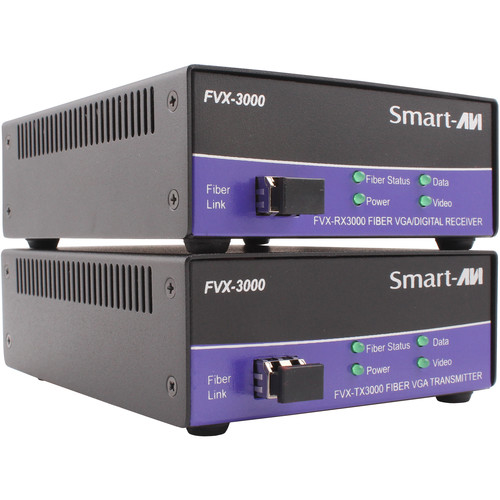 Smart-AVI DVI-I/VGA/DVI-D Multimode Fiber Extender Transmitter with Power Supply (Up to 1400')