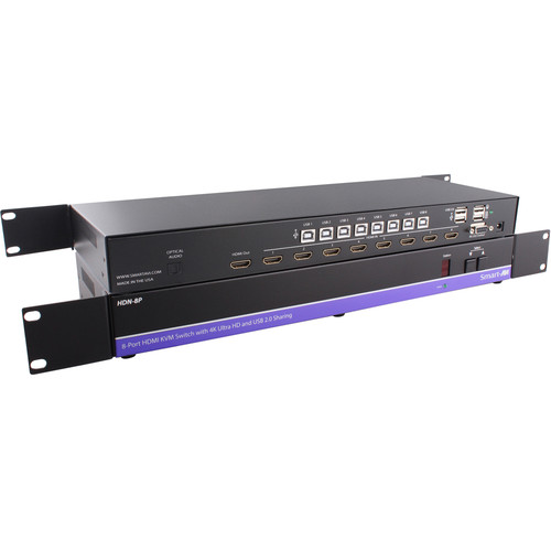 Smart-AVI HDN-8P 4K Ultra HD KVM Switch with USB 2.0 Sharing (8-Port)