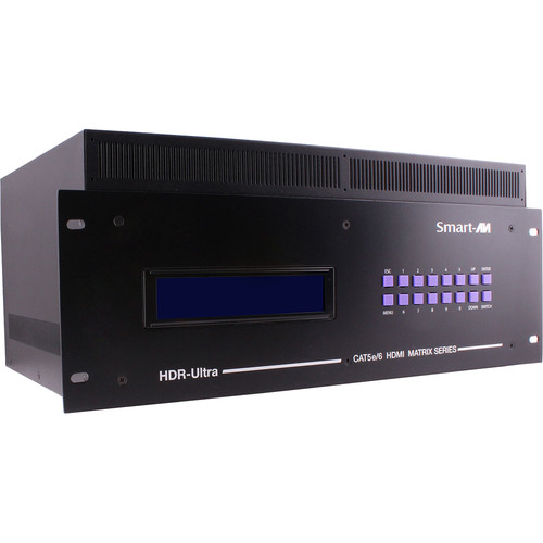 Smart-AVI HDR4x12-ULTRA Expandable HDMI 4 x 12 Matrix Switcher with CAT5 HDBaseT Outputs