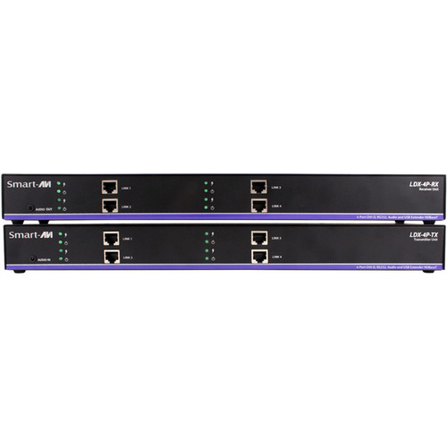 Smart-AVI LDX-4PS HDBaseT Quad DVI-D Extender Kit