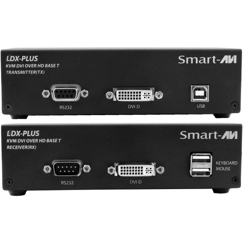 Smart-AVI LDX-Plus-S Long-Range DVI-D, USB Keyboard and Mouse, RS-232, and Audio Extender Kit