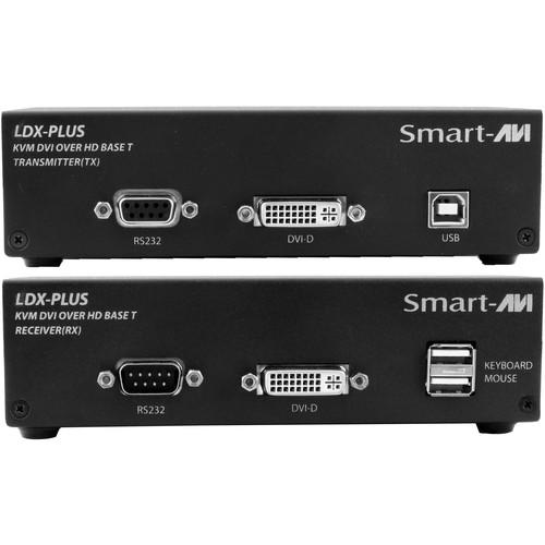 Smart-AVI LDX-Plus-S Long-Range DVI-D, USB Keyboard and Mouse, RS-232, and Audio Extender Kit