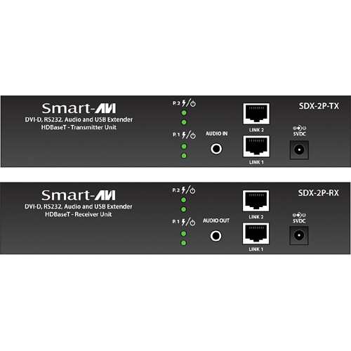 Smart-AVI SDX-2P-S Dual DVI-D, USB, RS232, & Audio Extension Kit