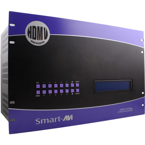 Smart-AVI 16-Port HDMI Real-Time Multiviewer and USB KVM Switch